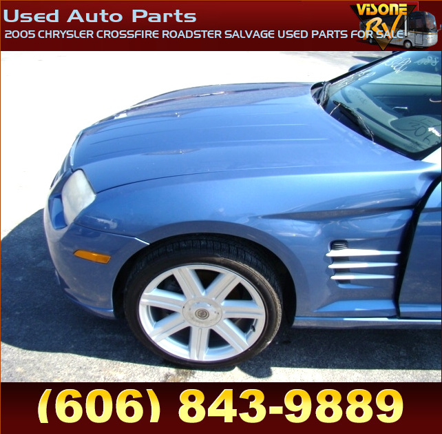 RV Parts 2005 CHRYSLER CROSSFIRE ROADSTER SALVAGE USED