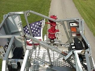 1995 SIMON DUPLEX LTI 85 ARIEL LADDER FIRE TRUCK SALVAGE - PARTS FOR SALE