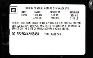 2000 CHEVROLET CAMARO SS FOE SALE
