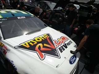 Bristol Motor Speedway Visone RV Sponsors Mike Bliss # 32 Go Green Racing