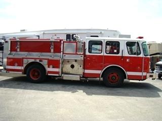 E-ONE FIRETRUCK - 2000 E-ONE PUMPER TRUCK FOR SALE